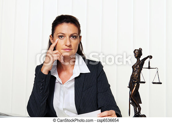 Lawyer in the office. Advocate for law and order - csp6536654