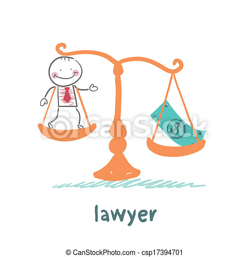 lawyer is in the balance with the money - csp17394701