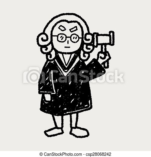 lawyer judge doodle - csp28068242