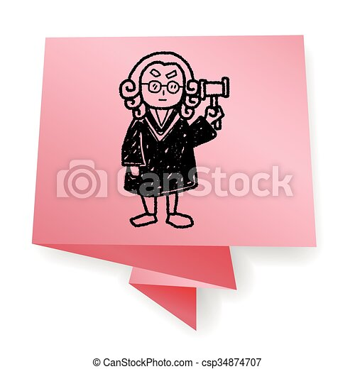lawyer judge doodle - csp34874707