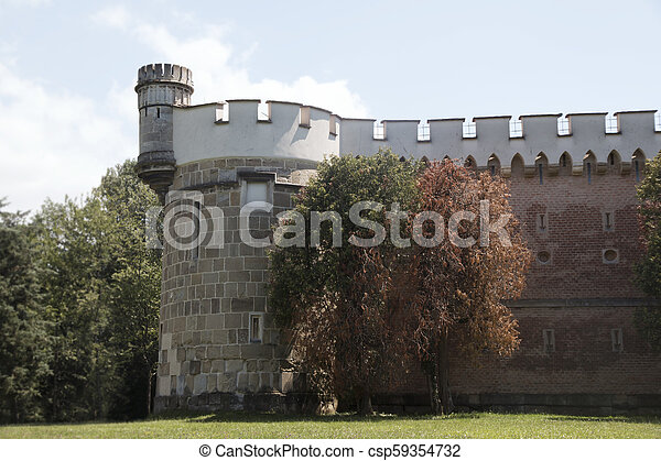 Laxenburg Castle By The Lake in Lower Austria - csp59354732