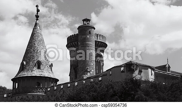 Laxenburg Castle By The Lake in Lower Austria - csp59354736