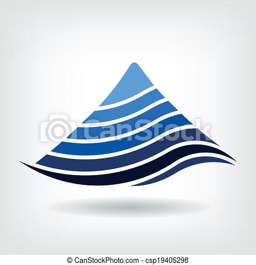 Layering mountain vector icon - csp19405298
