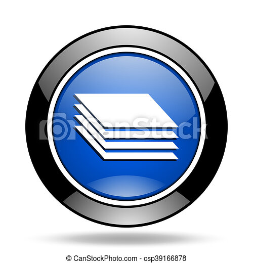 layers blue glossy icon - csp39166878