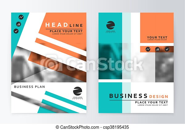 Layout Design Template Annual Report Brochure Business  Vectors