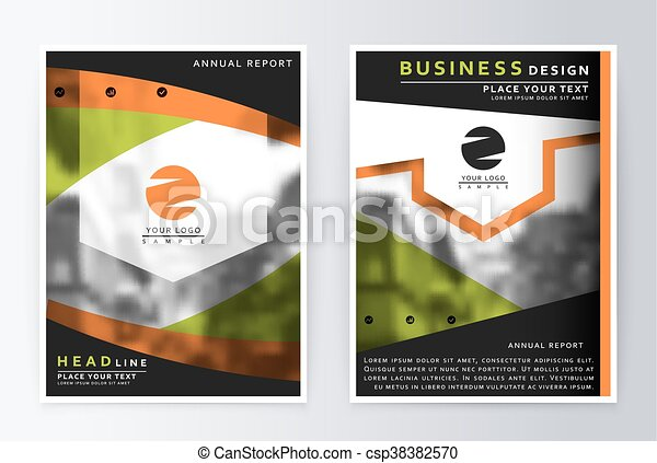 Layout Design Template, Annual Report Brochure.   Csp38382570