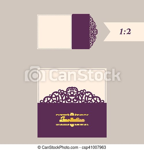 lazercut vector wedding invitation template wedding invitation