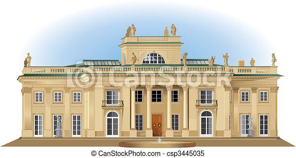 Lazienki palace. Lazienki royal summer palace detailed ...