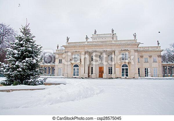 Lazienki Park in winter - csp28575045