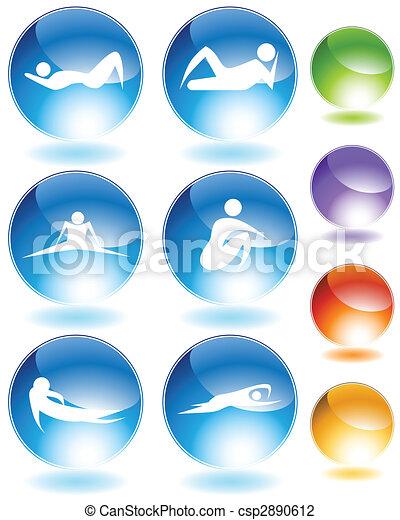 Lazy Crystal Icon - csp2890612