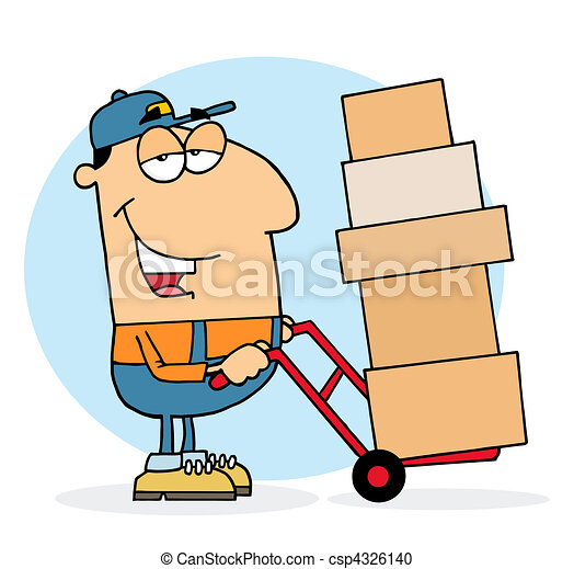 Lazy Delivery Man  - csp4326140