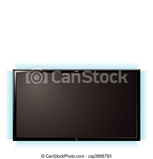 lcd television glow - csp3888793