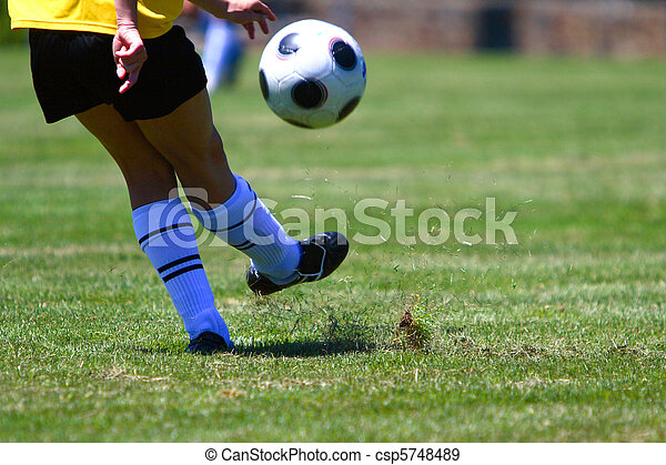 leány, futball, játék - csp5748489