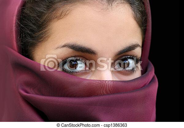 leány, muzulmán - csp1386363