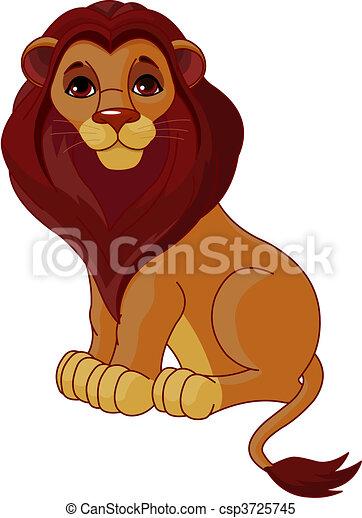 león, sentado - csp3725745