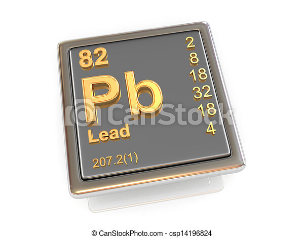 Lead. Chemical element. - csp14196824
