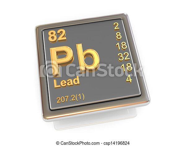 Lead Chemical Element 3d