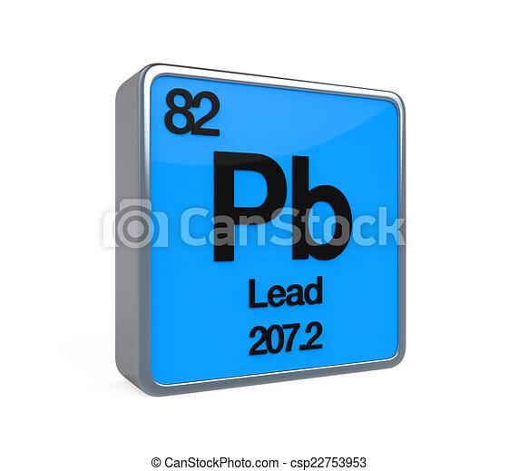 Lead element periodic table isolated on white background 3d render lead element periodic table csp22753953 urtaz Choice Image