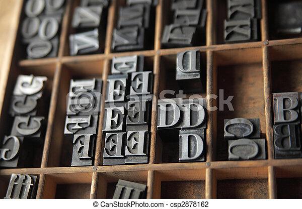 lead letterpress type - csp2878162