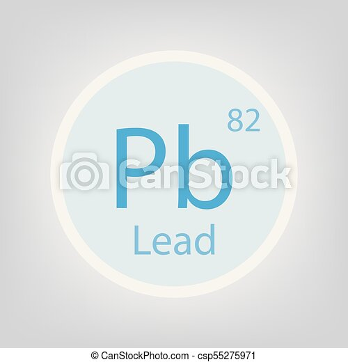 Lead Pb Chemical Element Icon Vector Illustration