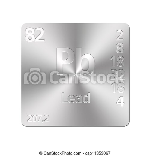 Lead pb isolated metal button with periodic table lead lead pb csp11353067 urtaz Choice Image