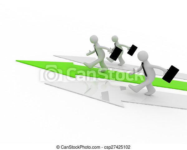 leader concept - csp27425102