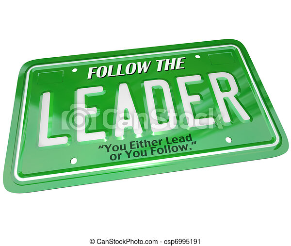 Leader - License Plate Word Leadership Top Manager - csp6995191