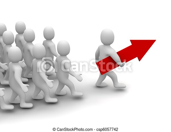 Leader on his way to success - csp6057742