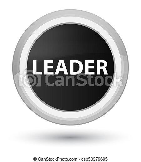 Leader prime black round button - csp50379695