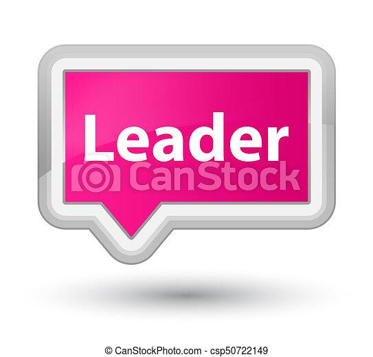 Leader prime pink banner button - csp50722149
