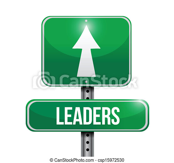 leaders road sign illustration - csp15972530