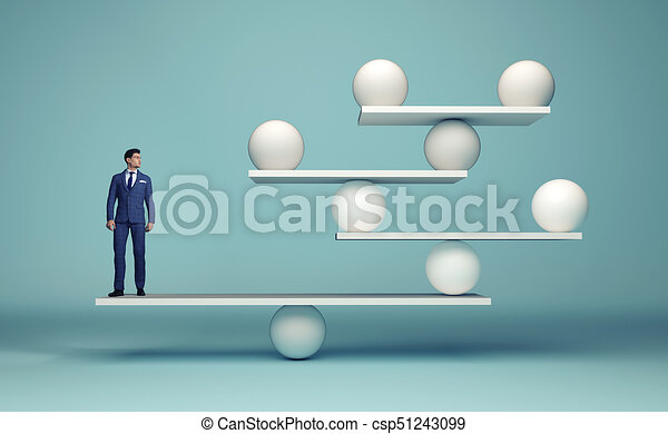 Leadership balancing the team - csp51243099
