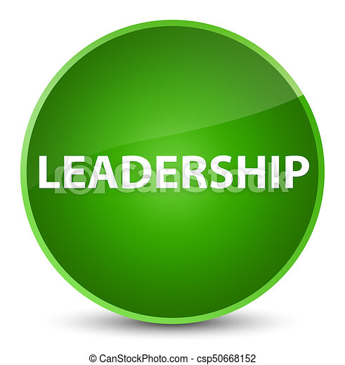 Leadership elegant green round button - csp50668152