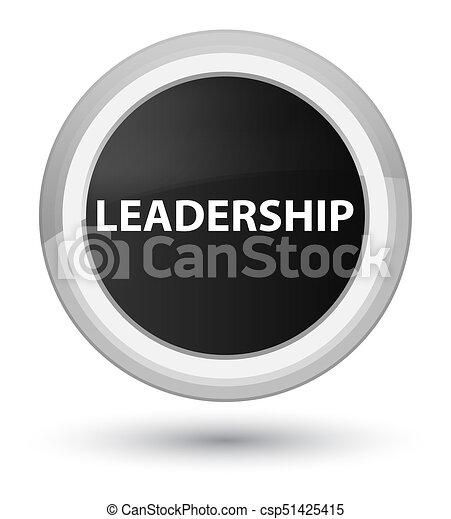 Leadership prime black round button - csp51425415