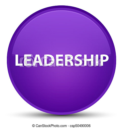 Leadership special purple round button - csp50490006