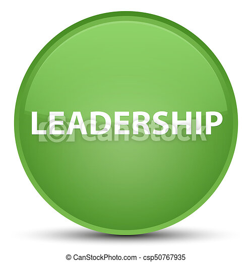 Leadership special soft green round button - csp50767935
