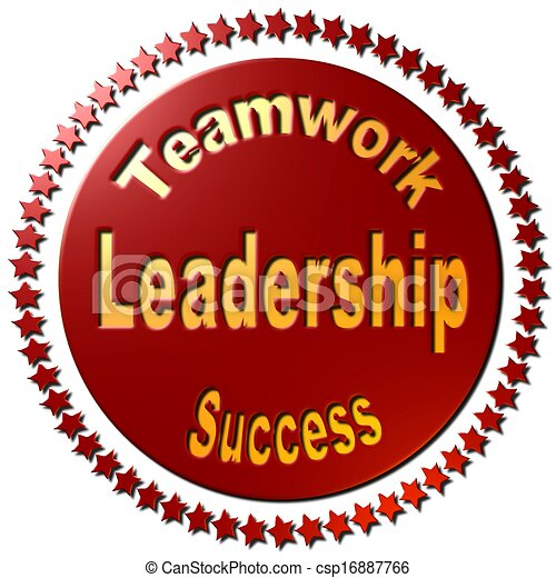 leadership teamwork success red a red circle with a ring of