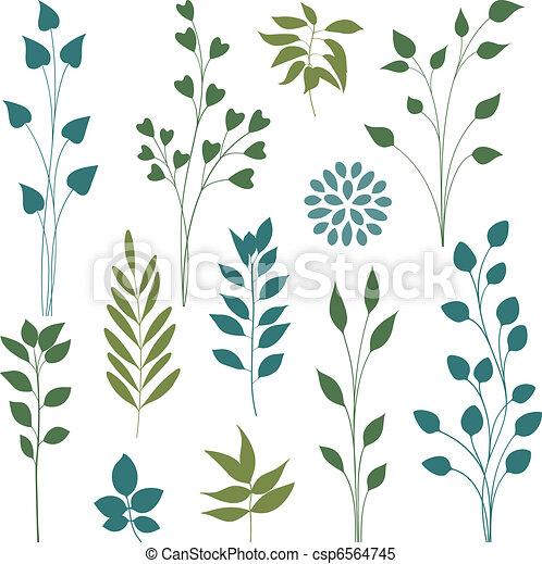 Leaf elements. - csp6564745