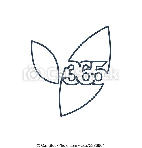leaf farm 365 infinity logo icon design illustration outline - csp73328864