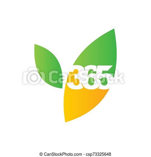 leaf farm 365 infinity logo icon design illustration vector - csp73325648