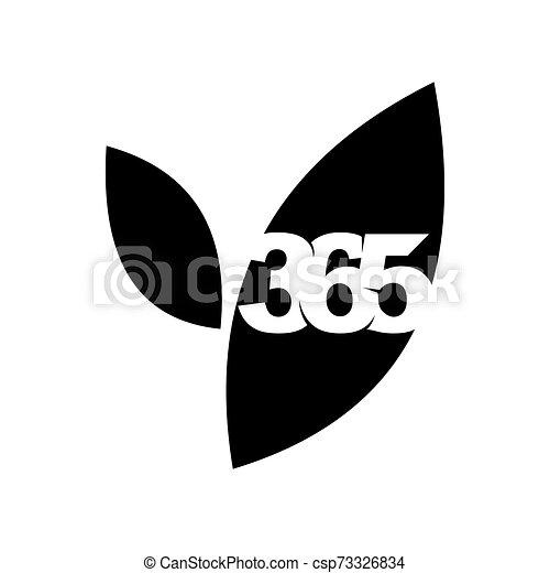 leaf farm 365 infinity logo icon design illustration black - csp73326834