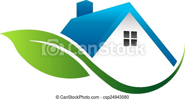 Leaf house logo - csp24943080
