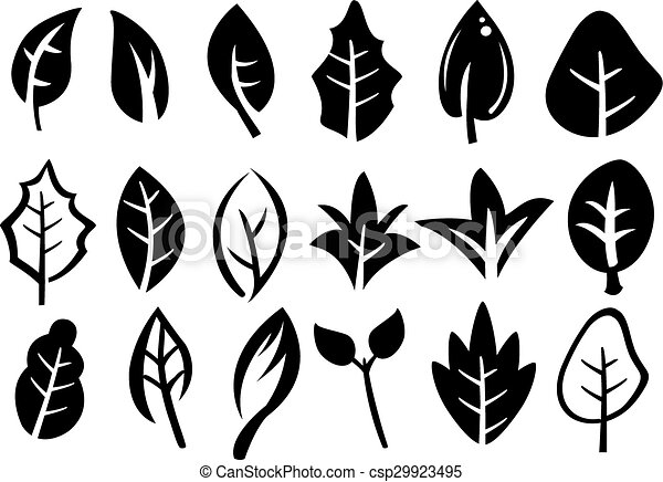Leaf Icon Set - csp29923495