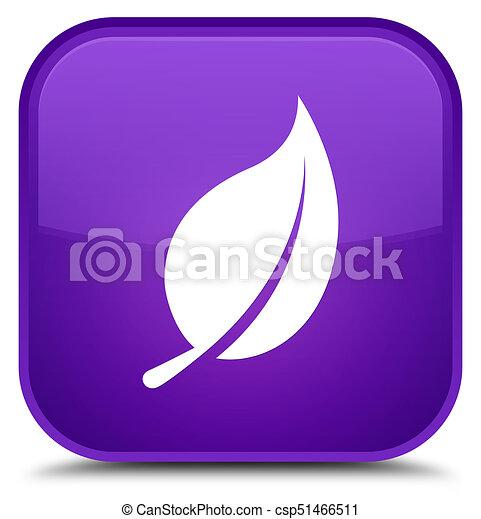 Leaf icon special purple square button - csp51466511