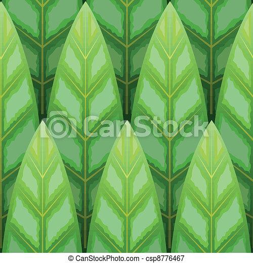 leaf wood row seamless background - csp8776467