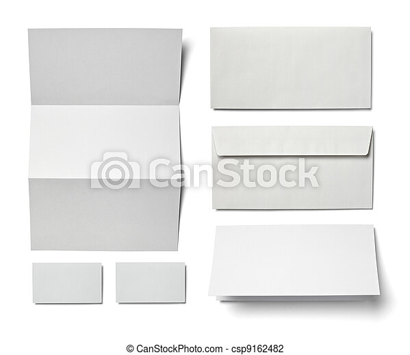 Leaflet letter business card white blank paper template stock leaflet letter business card white blank paper template csp9162482 reheart Choice Image