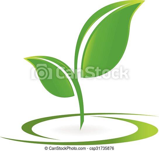Leafs Health nature logo vector - csp31735876