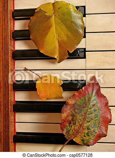 Leafy Trio on Piano - csp0577128
