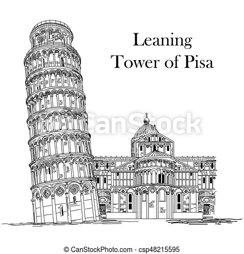 Leaning Tower of Pisa - csp48215595