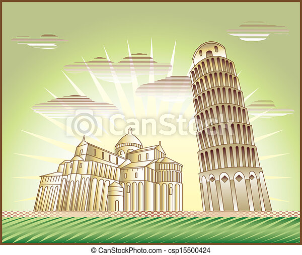 Leaning Tower of Pisa - csp15500424